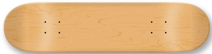 MOOSE BLANK Skateboard Deck NATURAL 7.0 mini