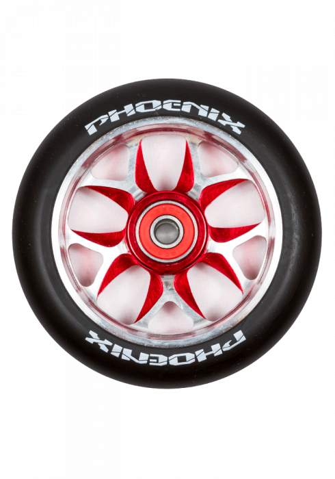Phoenix Wing Wheels (Pair) 110mm - RED/BLACK