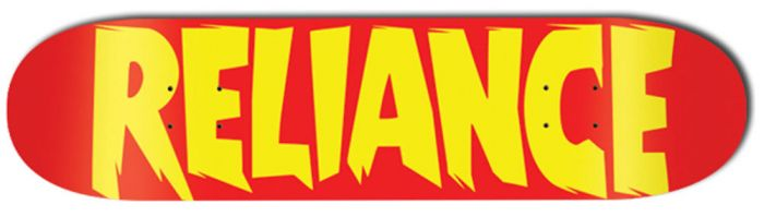 RELIANCE Skateboard Deck LOGO RED 8.25