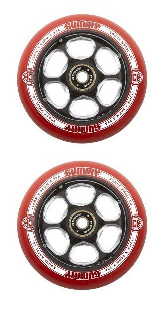 Rogue 110mm Dan Barrett Wheels-Red/Black (Pair)