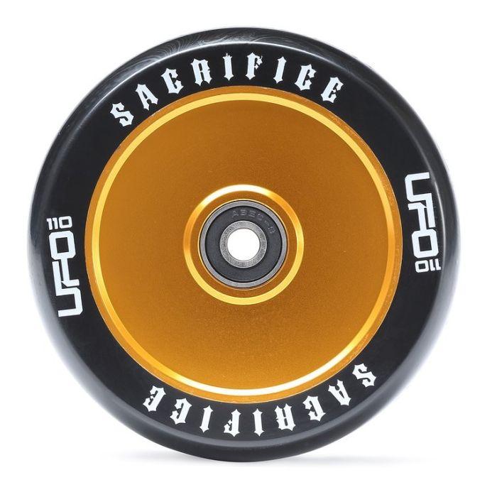 Sacrifice UFO Wheel 110mm - BLACK/GOLD