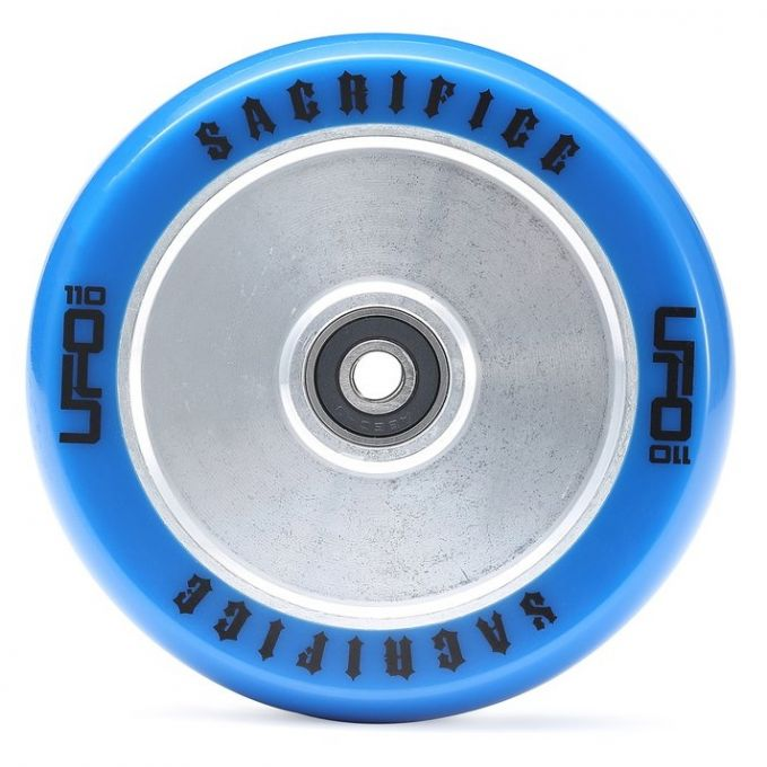 Sacrifice UFO Wheel 110mm - BLUE/POLISHED