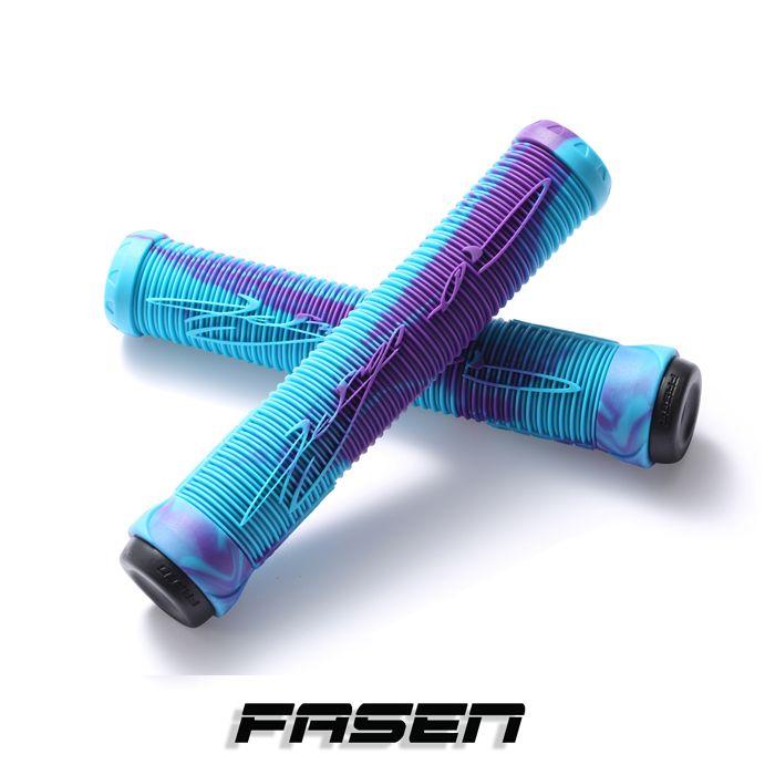 Fasen V2 Hand Grips - TEAL/PURPLE