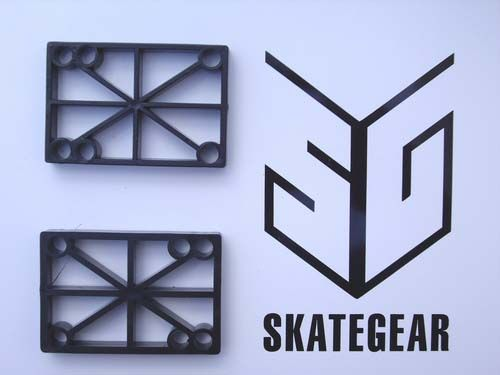 H-Block Skateboard Riser Pads 1/2 BLACK