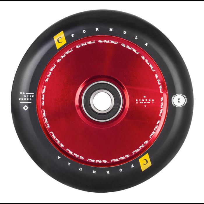 UrbanArtt Disc Wheel - 12mm Std Ink Core 125mm - RED