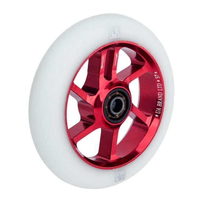 UrbanArtt S7 100mm Wheel - RED/WHITE