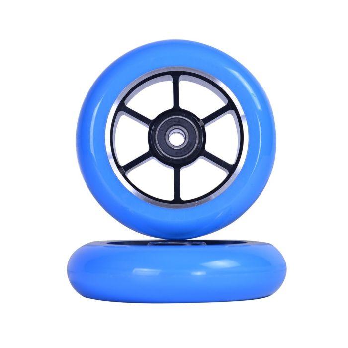GRIT Wheels 100mm -  BLUE / BLACK (Pair)
