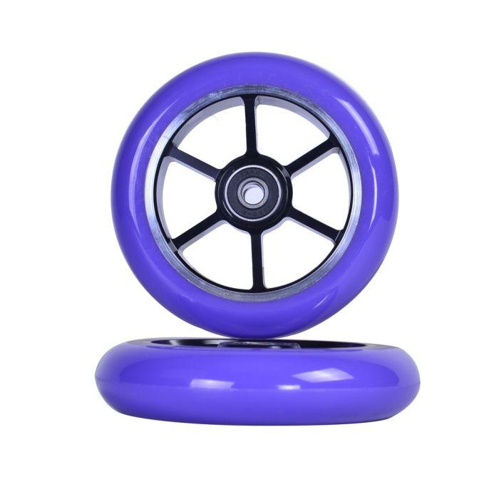 GRIT Wheels 110mm - PURPLE / BLACK  (Pair)