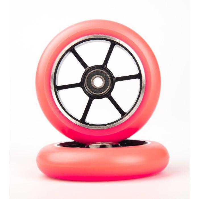 GRIT Wheels 110mm -  PINK / BLACK (Pair)